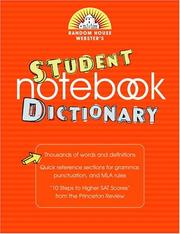 Cover of: Random House Webster's Student Notebook Dictionary | Random House