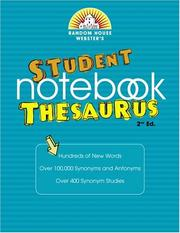 Cover of: Random House Webster's Student Notebook Thesaurus by Random House