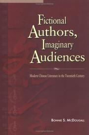 Cover of: Fictional Authors, Imaginary Audiences | Bonnie S. McDougall