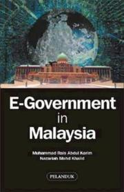 Cover of: E-Government in Malaysia by Muhammad.