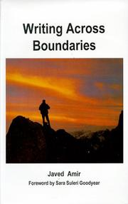 Cover of: Writing across boundaries by Javed Amir