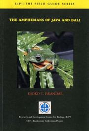 Cover of: The amphibians of Java and Bali by Djoko T. Iskandar.