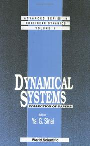 Cover of: Dynamical Systems by Ya G. Sinai