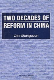 Cover of: Two Decades of Reform in China by Shangquan Gao