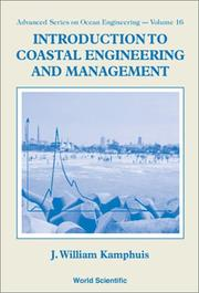 Cover of: Introduction to coastal engineering and management | J. W. Kamphuis