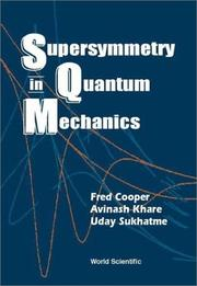 Cover of: Supersymmetry in quantum mechanics | Fred Cooper