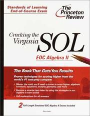 Cover of: Cracking the Virginia SOL | Steven A. Leduc