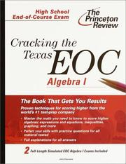 Cover of: Cracking the Texas End-of-Course Algebra I | John Haumann