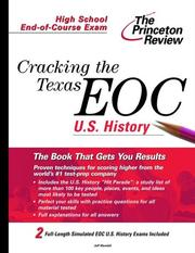 Cover of: Cracking the Texas End-of-Course U.S. History | Jeff Mandell