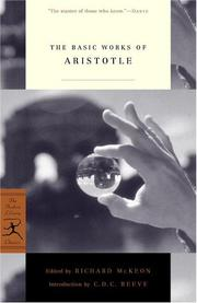 Cover of: The basic works of Aristotle by Aristotle