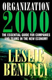 Cover of: Organization 2000 | Leslie Bendaly