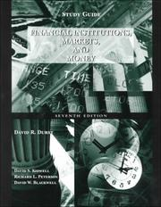 Cover of: Financial Institutions, Markets and Money, Study Guide | Kidwell