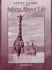 Cover of: Study Guide to Accompany Asking About Life | Tobin