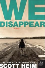 Cover of: We Disappear | Scott Heim