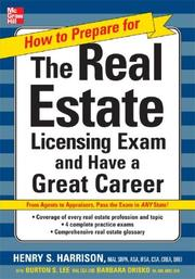 Cover of: How to Prepare For and Pass the Real Estate Licensing Exam | Henry S. Harrison