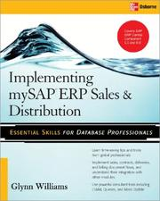 Cover of: Implementing SAP ERP sales & distribution | Glynn C. Williams