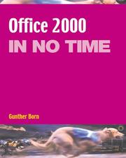 Cover of: Office 2000 in No Time (In No Time) by Gunter Born