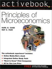 Cover of: Activebook Version 1.0  Principles of Microeconomics | Karl E. Case