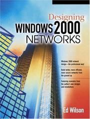 Cover of: Designing Windows 2000 Networks | Ed Wilson