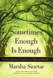 Cover of: Sometimes Enough Is Enough by Marsha Sinetar