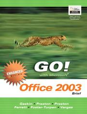 Cover of: GO Office 2003 Brief Enhanced- ADHESIVE (Go Series for Microsoft Office 2003) by Shelley Gaskin
