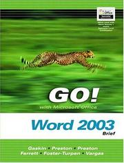 Cover of: Go! With Microsoft Office Word 2003 Brief and Go Student CD (Go! Series) | Shelley Gaskin