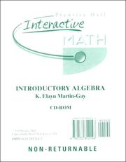 Cover of: Interactive Math for Introductory Algebra | K. Elayn Martin-Gay