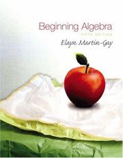 Cover of: Beginning Algebra by K. Elayn Martin-Gay