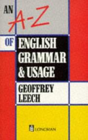 Cover of: A-Z of English Grammar and Usage (Grammar & Reference) | Geoffrey N. Leech