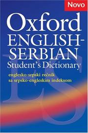 Cover of: Oxford English-Serbian student's dictionary |