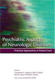 Cover of: Psychiatric Aspects of Neurologic Diseases | John R. Ripsey