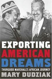 Cover of: Exporting American Dreams by Mary L. Dudziak