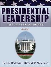 Cover of: Presidential leadership | Bert A. Rockman, Richard W. Waterman