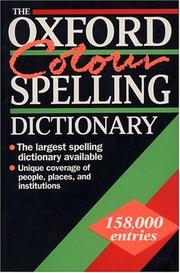 Cover of: The Oxford Colour Spelling Dictionary | Maurice Waite