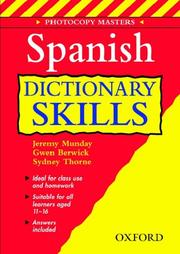 Cover of: Spanish Dictionary Skills | Jeremy Munday