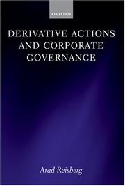 Cover of: Derivative Actions and Corporate Governance | Arad Reisberg