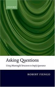 Cover of: Asking questions by Robert Fiengo