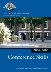 Cover of: Conference Skills 2007-2008 | The City Law School