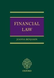Cover of: Financial law | Joanna Benjamin