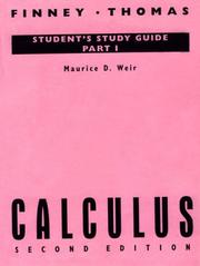 Cover of: Calculus (Student Study Guide, Part 1) | Ross L. Finney