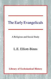 Cover of: The early Evangelicals | Leonard Elliott Elliott-Binns