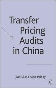 Cover of: Transfer Pricing Audits in China | Jian Li