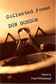 Cover of: Collected poems by Don Gordon