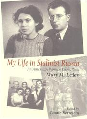 Cover of: My life in Stalinist Russia by Mary M. Leder