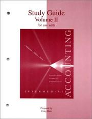 Cover of: Study Guide, Volume 2 To Accompany Intermediate Accounting | Charles Davis