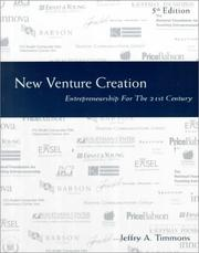 Cover of: New venture creation by Jeffry A. Timmons