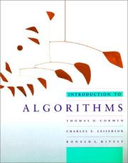 Cover of: Introduction to Algorithms | Thomas H. Cormen, Charles E. Leiserson, Ronald L. Rivest