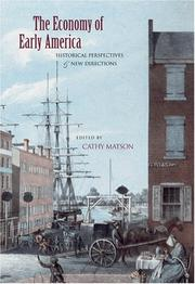 Cover of: The Economy of Early America by Cathy D. Matson