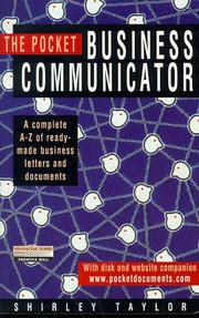 Cover of: The Pocket Business Communicator by Shirley Taylor