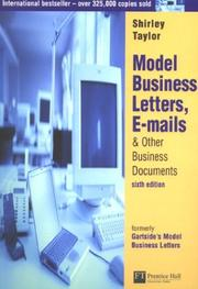 Cover of: Model Business Letters, E-Mails, & Other Business Documents | Shirley Taylor